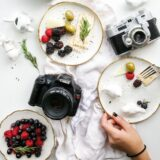 Cameras and food