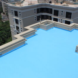Polyurethane & Polyurea Based Waterproofing Coating System for Terrace Roof.